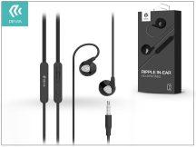 Devia univerzális sztereó felvevős fülhallgató - 3,5 mm jack - Devia Ripple D2 In-Ear Headphones - black