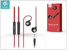 Devia univerzális sztereó felvevős fülhallgató - 3,5 mm jack - Devia Ripple D2 In-Ear Headphones - red