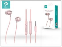 Devia univerzális sztereó felvevős fülhallgató - 3,5 mm jack - Devia Marron P1 In-Ear Headphones - rose gold
