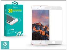Apple iPhone 7 üveg képernyő- + Crystal hátlapvédő fólia - Devia 3D Curved Tempered Glass - Teljes képernyős - 1 + 1 db/csomag - white