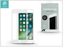 Apple iPhone 7 Plus üveg képernyő- + Crystal hátlapvédő fólia - Devia Full Screen Tempered Glass 0.26 mm - 1 + 1 db/csomag - white