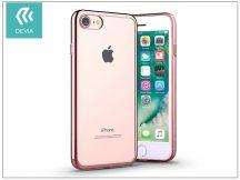 Apple iPhone 7 szilikon hátlap - Devia Glitter Soft - rose gold