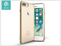 Apple iPhone 7 Plus/iPhone 8 Plus szilikon hátlap - Devia Glitter Soft - champagne gold