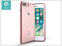Apple iPhone 7 Plus/iPhone 8 Plus szilikon hátlap - Devia Glitter Soft - rose gold