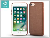 Apple iPhone 7/iPhone 8 szilikon hátlap - Devia Jelly Slim Leather 2 - brown