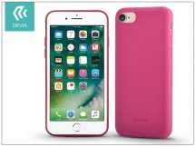 Apple iPhone 7/iPhone 8 szilikon hátlap - Devia Jelly Slim Leather 2 - pink