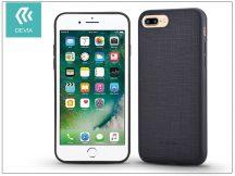 Apple iPhone 7 Plus/iPhone 8 Plus szilikon hátlap - Devia Jelly Slim Leather 2 - black