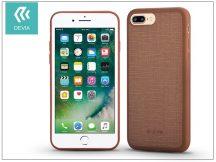 Apple iPhone 7 Plus/iPhone 8 Plus szilikon hátlap - Devia Jelly Slim Leather 2 - brown