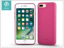 Apple iPhone 7 Plus/iPhone 8 Plus szilikon hátlap - Devia Jelly Slim Leather 2 - pink