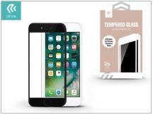 Apple iPhone 7 üveg képernyő- + Crystal hátlapvédő fólia - Devia Full Screen Tempered Glass 0.26 mm - Anti-Glare - 1 + 1 db/csomag - black