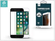 Apple iPhone 7 üveg képernyő- + Crystal hátlapvédő fólia - Devia Full Screen Tempered Glass 0.26 mm - Privacy - 1 + 1 db/csomag - black