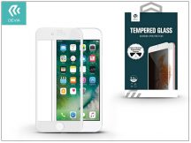 Apple iPhone 7 üveg képernyő- + Crystal hátlapvédő fólia - Devia Full Screen Tempered Glass 0.26 mm - Privacy - 1 + 1 db/csomag - white