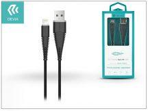 Apple iPhone Lightning USB töltő- és adatkábel 1,5 m-es vezetékkel - Devia Fish1 Flexible Lightning USB 2.4 - black