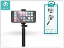 Devia 360 Rotation Selfie Holder szelfi bot exponáló gombbal, 3,5 mm jack csatlakozóval - fekete