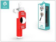 Devia 360 Rotation Selfie Holder szelfi bot exponáló gombbal, 3,5 mm jack csatlakozóval - red