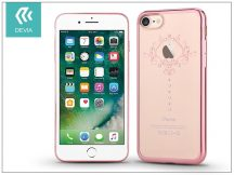 Apple iPhone 7 hátlap Swarovski kristály díszitéssel - Devia Crystal Iris Soft - rose gold