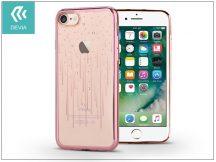 Apple iPhone 7/iPhone 8 hátlap Swarovski kristály díszitéssel - Devia Crystal Meteor Soft - rose gold