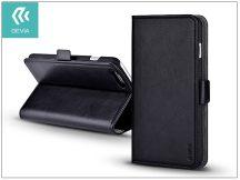 Apple iPhone 7 Plus oldalra nyíló flipes tok hátlappal + kártyatartóval - Devia Magic Leather 2in1 - black