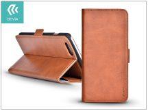 Apple iPhone 7 Plus oldalra nyíló flipes tok hátlappal + kártyatartóval - Devia Magic Leather 2in1 - brown