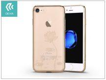 Apple iPhone 7/iPhone 8 hátlap Swarovski kristály díszitéssel - Devia Crystal Lotus - champagne gold