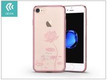 Apple iPhone 7 hátlap Swarovski kristály díszitéssel - Devia Crystal Lotus - rose gold