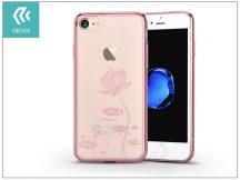 Apple iPhone 7/iPhone 8 hátlap Swarovski kristály díszitéssel - Devia Crystal Lotus - rose gold