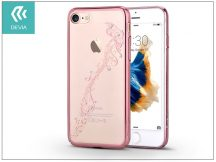 Apple iPhone 7 hátlap Swarovski kristály díszitéssel - Devia Crystal Papillon - rose gold