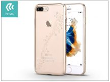 Apple iPhone 7 Plus/iPhone 8 Plus hátlap Swarovski kristály díszitéssel - Devia Crystal Papillon - champagne gold