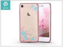 Apple iPhone 7/iPhone 8 hátlap Swarovski kristály díszitéssel - Devia Crystal Joyous - blue