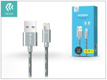 USB - micro USB + Lightning adat- és töltőkábel 1,5 m-es vezetékkel - Devia iWonder 2in1 Charging Cable USB 2.4A - grey