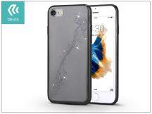 Apple iPhone 7/iPhone 8 hátlap Swarovski kristály díszitéssel - Devia Crystal Papillon - gun black