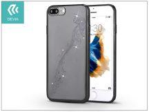 Apple iPhone 7 Plus/iPhone 8 Plus hátlap Swarovski kristály díszitéssel - Devia Crystal Papillon - gun black