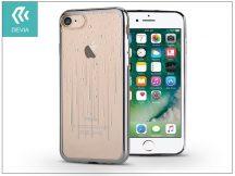 Apple iPhone 7/iPhone 8 hátlap Swarovski kristály díszitéssel - Devia Crystal Meteor Soft - gun black