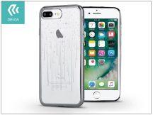 Apple iPhone 7 Plus/iPhone 8 Plus hátlap Swarovski kristály díszitéssel - Devia Crystal Meteor Soft - gun black