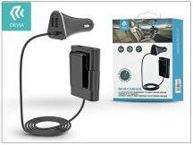 Devia szivargyújtó töltő adapter - Devia iBox Carhub 4xUSB - 5V/6,8A - black