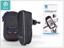 """Univerzális kerékpárra szerelhető, vízálló telefontartó táska max. 5,5"""", méretű készülékekhez - Devia Waterproof Bag Suit - black"""