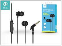 Devia univerzális sztereó felvevős fülhallgató - 3,5 mm jack - Devia Ripple D3 In-Ear Headphones - black