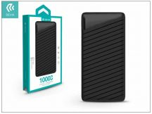 Univerzális hordozható, asztali akkumulátor töltő - Devia Elegant J1 2xUSB 2.4A Power Bank - 10.000 mAh - black