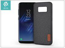 Samsung G950F Galaxy S8 hátlap - Devia Flax - black