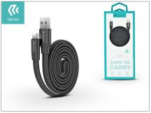 USB - USB Type-C adat- és töltőkábel 80 cm-es vezetékkel - Devia Ring Y1 USB Type-C 2.4 Cable - black