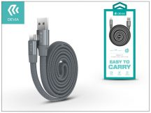 USB - USB Type-C adat- és töltőkábel 80 cm-es vezetékkel - Devia Ring Y1 USB Type-C 2.4 Cable - grey