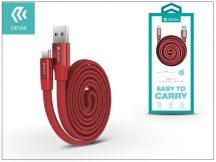 USB - USB Type-C adat- és töltőkábel 80 cm-es vezetékkel - Devia Ring Y1 USB Type-C 2.4 Cable - red