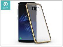 Samsung G950F Galaxy S8 hátlap - Devia Glitter Soft - champagne gold