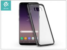 Samsung G955F Galaxy S8 Plus hátlap - Devia Glitter Soft - gun black