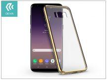 Samsung G955F Galaxy S8 Plus hátlap - Devia Glitter Soft - champagne gold