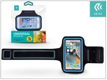 """Univerzális kartok sportoláshoz, max. 4,7"""", méretű készülékekhez - Devia Easy Go Universal Armband - black/blue"""