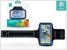 """Univerzális kartok sportoláshoz, max. 5,5"""", méretű készülékekhez - Devia Easy Go Universal Armband - black/blue"""