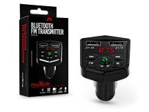 Maxlife Bluetooth FM-transmitter/szivargyújtó töltő - 2xUSB + microSD kártyaolvasó - Maxlife MXFT-02 - 5V/3.1A - fekete