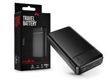 Maxlife univerzális hordozható, asztali akkumulátor töltő - Maxlife MXPB-01 Power Bank - 2xUSB + microUSB + Type-C - 20.000 mAh - fekete