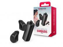 Forever Bluetooth sztereó TWS headset v4.1 + töltő dokkoló - Forever TWE-200 Bluetooth True Wireless Earbuds - fekete